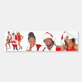 Ghetto Santa and his Elves from the Hood Bumper Sticker