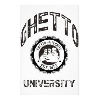 Ghetto University Customized Stationery