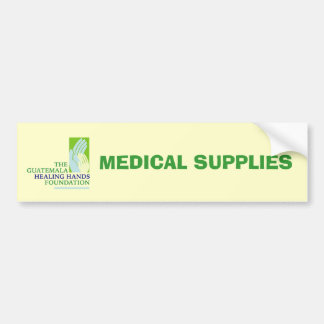 GHHF Logo, MEDICAL SUPPLIES Bumper Sticker