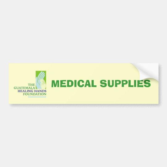 GHHF Logo, MEDICAL SUPPLIES Bumper Sticker
