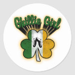 Ghillie Girl Round Sticker