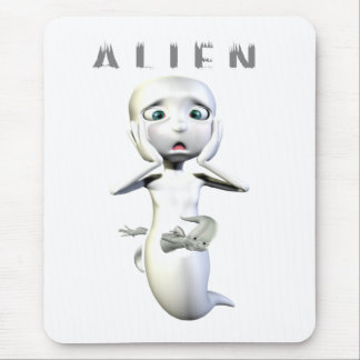 Ghost Alien Mouse Pads