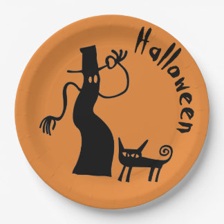 Ghost and Cat Paper Plate