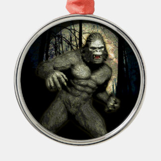 GHOST APE Silver-Colored ROUND DECORATION