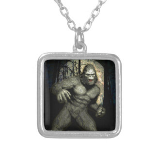 GHOST APE SILVER PLATED NECKLACE