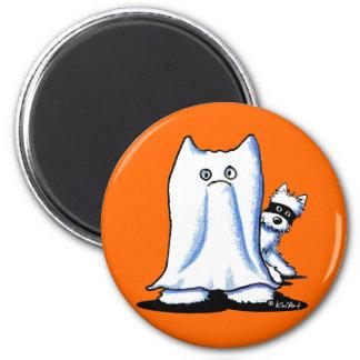 Ghost Bandit Halloween Westies Magnet