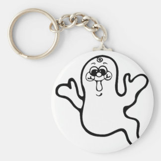 Ghost Basic Round Button Key Ring