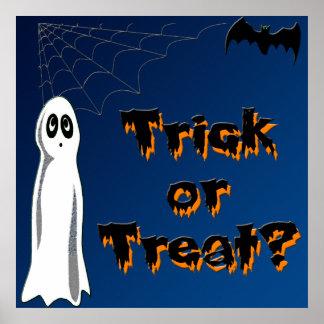 Ghost & Bat Poster