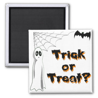 Ghost Bat Trick or Treat Refrigerator Magnet