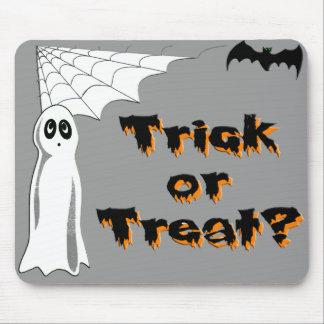 Ghost Bat Trick or Treat Mousepads