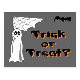 Ghost Bat Trick or Treat Postcards