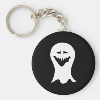 Ghost. Black and White. Key Ring