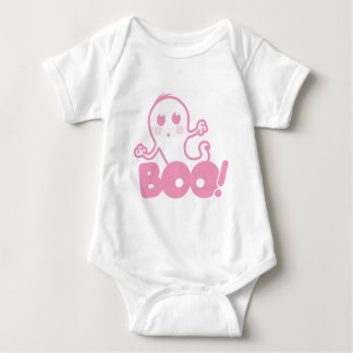 Ghost - Boo! (Pink) Baby Bodysuit