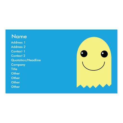 Ghost - Business Double-Sided Standard Business Cards (Pack Of 100)