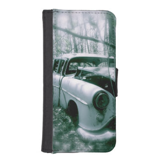 Ghost Car in the Woods iPhone Wallet Case