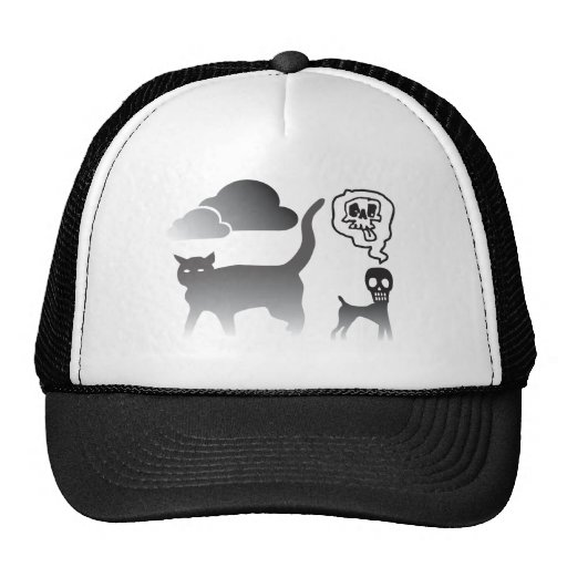 Ghost Cat And Death Dog Trucker Hats