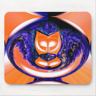 Ghost cat mouse pad