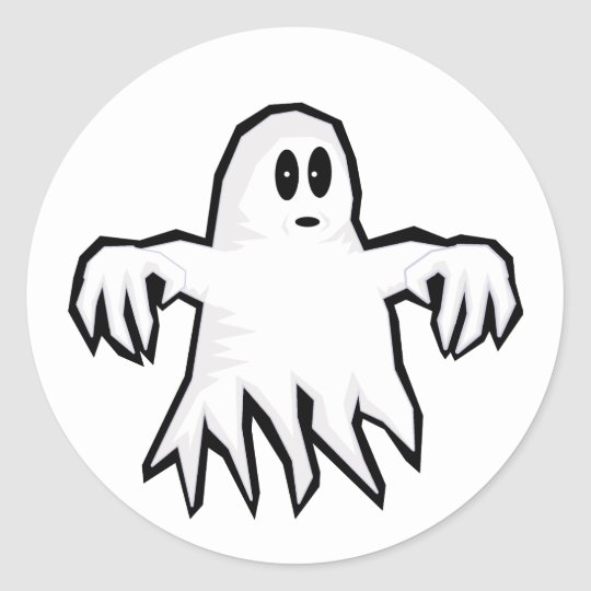 Ghost Classic Round Sticker