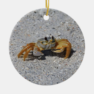 Ghost Crab Christmas Ornament