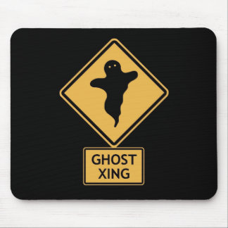 ghost crossing mouse pad
