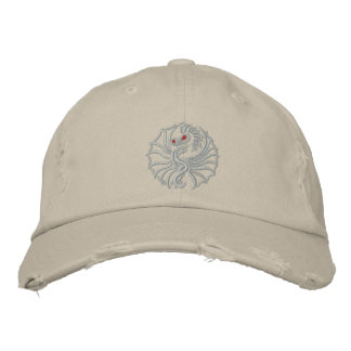 Ghost Dragon Embroidered Baseball Cap