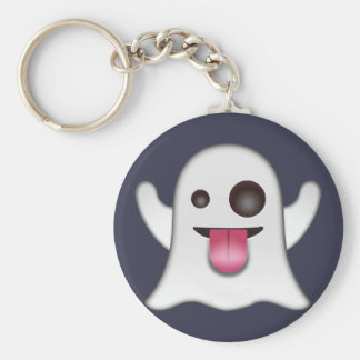 ghost_emoji basic round button key ring