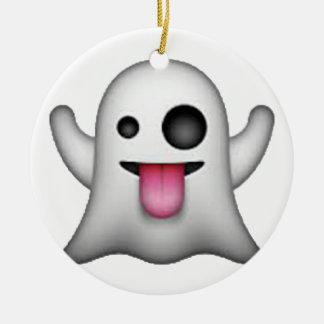 Ghost - Emoji Christmas Ornament