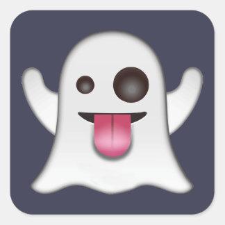 Ghost emoji square sticker