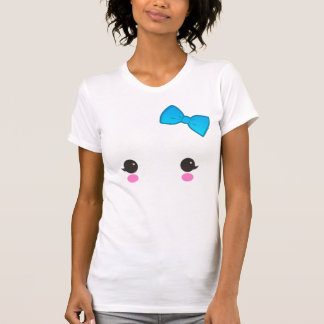ghost face blue bow shirt