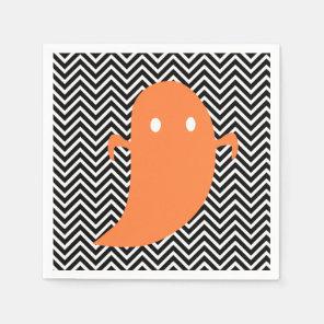 Ghost Halloween Custom Paper Napkin