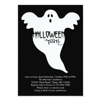 Ghost Halloween Invitation