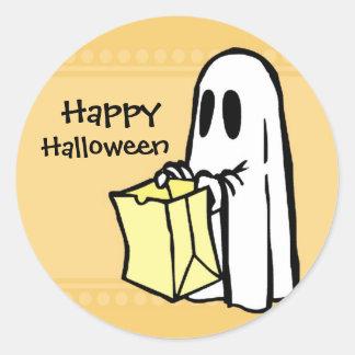 Ghost Happy  Halloween Stickers