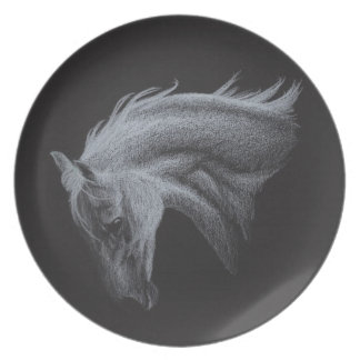 Ghost Horse Collection Plate