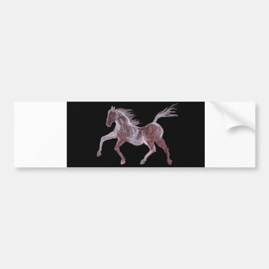 Ghost Horse Dancing Bumper Sticker
