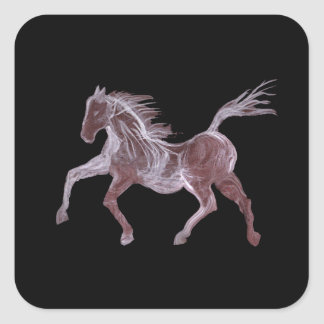 Ghost Horse Dancing Square Sticker