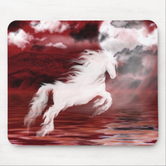 Ghost horse mouse mat