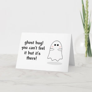 Ghost hug customise card