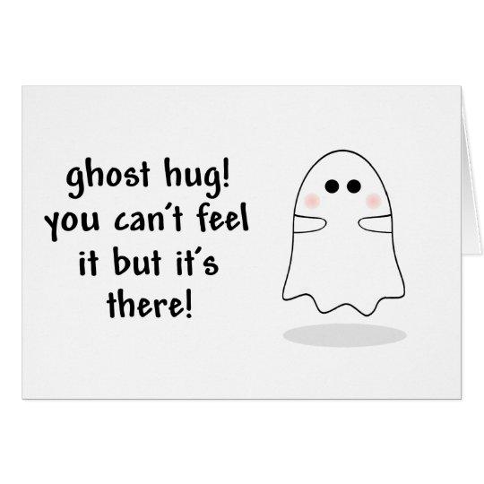 Ghost hug customise card