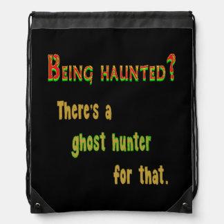 Ghost Hunter App For That (Black Background) Cinch Bag