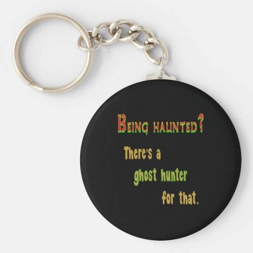 Ghost Hunter App For That (Black Background) Keychains