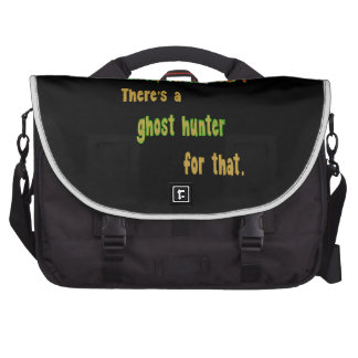 Ghost Hunter App For That (Black Background) Laptop Bags