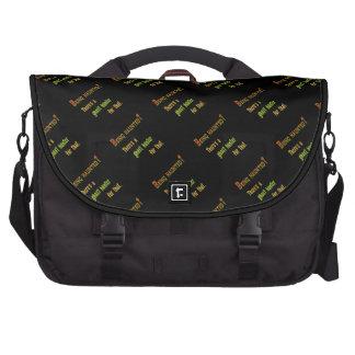 Ghost Hunter App For That (Black Background) Laptop Messenger Bag