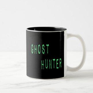 Ghost Hunter - Black Background Two-Tone Coffee Mug