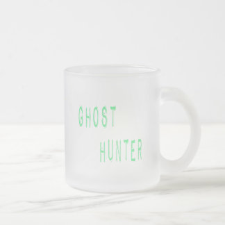 Ghost Hunter Frosted Glass Coffee Mug