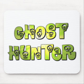 ghost hunter green skull mouse pad