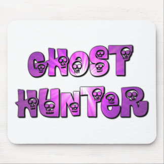 ghost hunter purple  skulls mouse pad