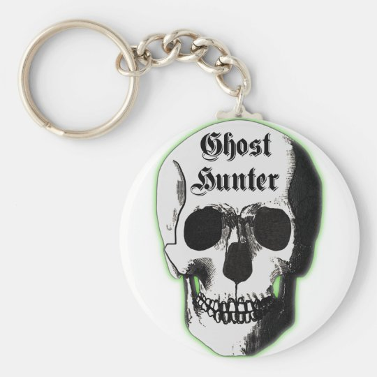 Ghost Hunter Skull Basic Round Button Key Ring