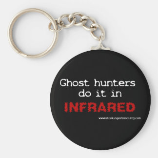 Ghost hunters do it in infrared basic round button key ring