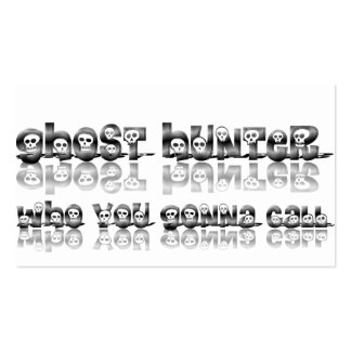 Ghost Hunters Who you gonna call business card