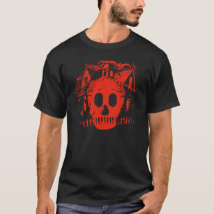 Ghost Hunting Haunted House and Skull T-Shirt